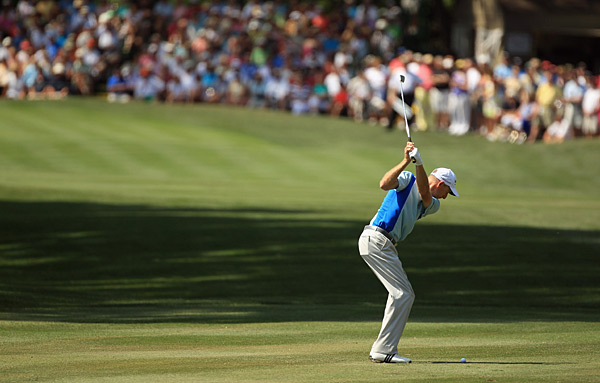 Jim Furyk battled Luke Donald for the lead throughout the third round.