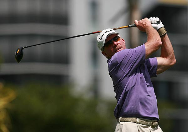 Former baseball player Mike Schmidt played with Suzann Pettersen, who finished at even par.