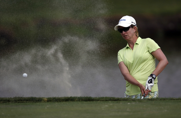 Karrie Webb shot a three-under 70.