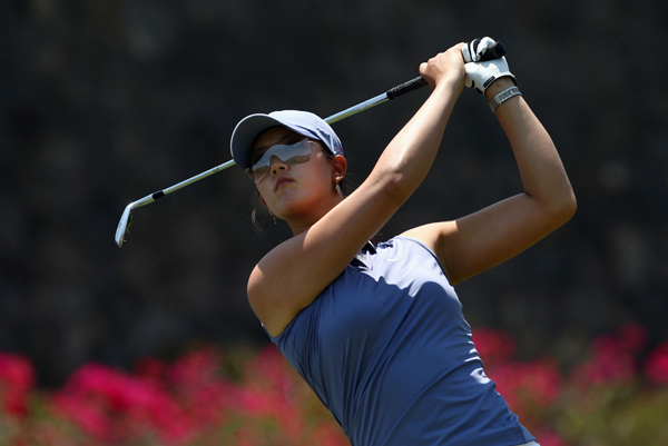 Michelle Wie made three birdies and two bogeys for a 72.