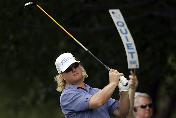 Charley Hoffman birdied 18 to finish at five under.