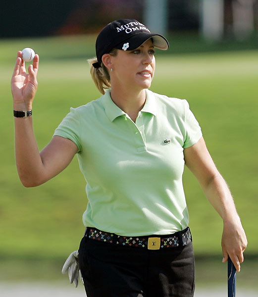 Cristie Kerr made an eagle on the par-4 14th hole on her way to a 67.