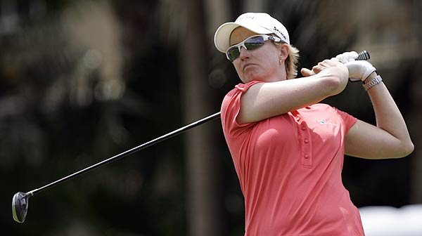 Karrie Webb also finished at seven under par after a final-round 64.
