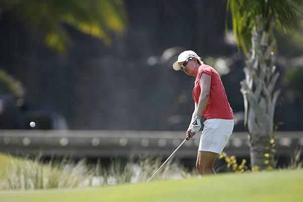 Karrie Webb shot a 64 on Sunday to help her earn a tie for third.
