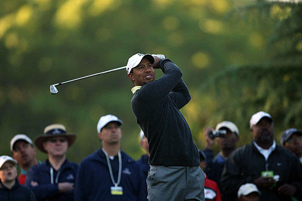 teed off Wednesday at 7:30 a.m. in the pro-am at Quail Hollow.