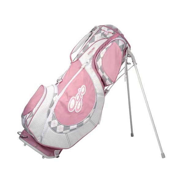 Ogio Diva Stand Bag                           The Diva bag is stylish, with fun colors and argyle patterns, as well as functional, with pockets for all the essentials, including a cell phone, scorecard and water bottle.                            $129.99 on golfgalaxy.com.