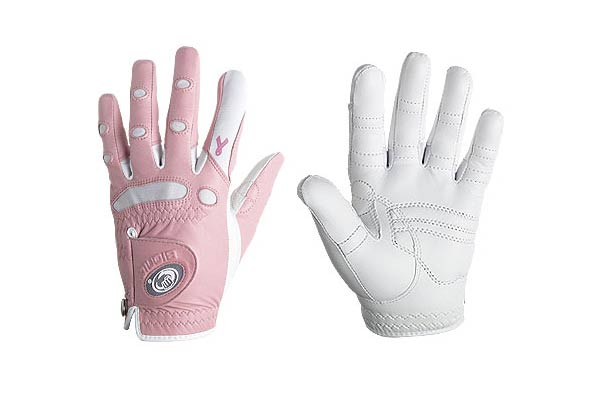 Bionic Gloves: Women's Pink Ribbon Classic Golf Glove                                                      These also come in white and silver, but a portion of the proceeds from the pink version will go to the American Cancer Society to support breast cancer awareness and research. These long-lasting gloves are specially cut to fit a woman's hand.                                                       $24.95 (single) on bionicgloves.com.