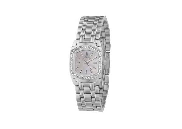 Callaway Women's Glitz Watch                       This stainless steel watch from Callaway features a white mother-of-pearl face surrounded by crystal stone accents.                        $110 on shop.callaway.com