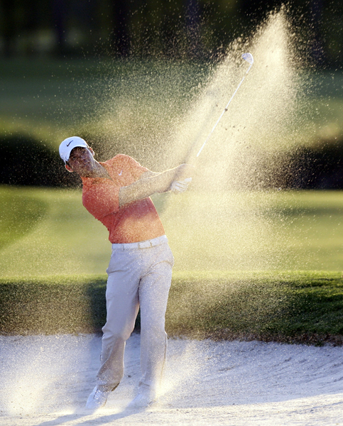 Second Round of the Shell Houston Open                           Paul Casey was one of the few players to complete the second round on Friday. Darkness suspended play, with Casey tied for the lead with Geoff Ogilvy and John Senden.