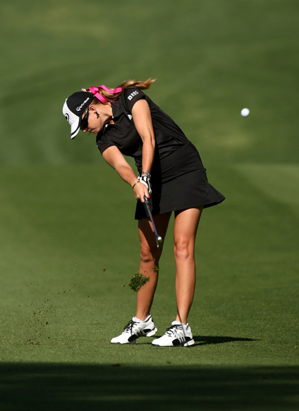 Paula Creamer shot even par, but she remained in the hunt at 2 under.