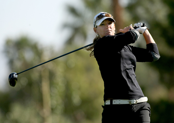 Second Round of the Kraft Nabisco Championship                           Kristy McPherson shot a 2-under 70 to finish at 6-under par, tied for the lead with Christina Kim.