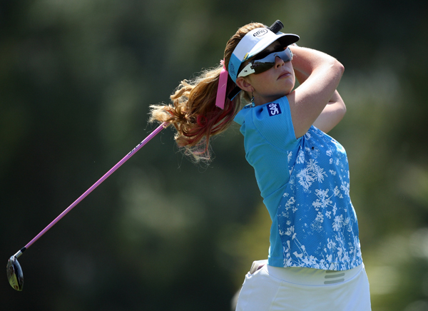 Paula Creamer dropped out of contention with a 5-over 77.