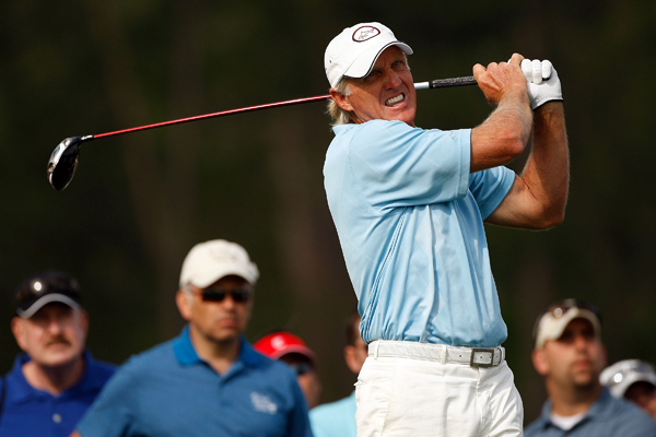 Greg Norman, 54, shot a 3-under 69 to easily make the cut.