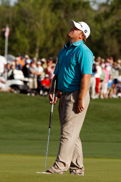 In the playoff, Holmes hit his drive into the water and made double bogey.