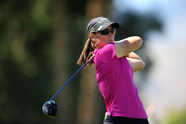 Kristy McPherson held a one-stroke lead going into 18, but she made par to tie for second.