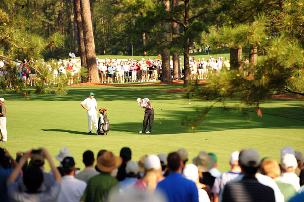 Woods has won the Masters four times — 1997, 2001, 2002 and 2005.