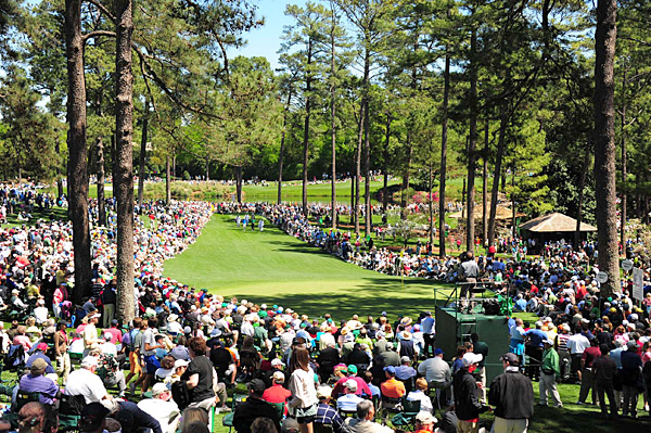 Fans turned out in large numbers to witness the ever-popular Wednesday tradition at Augusta.