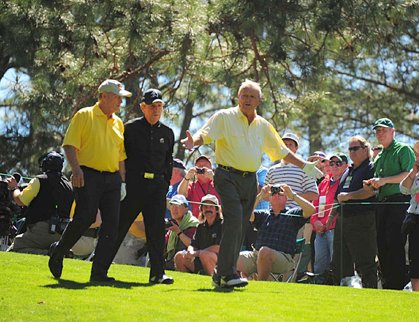 Jack Nicklaus, Arnold Palmer and Gary Player were the main attraction at Wednesday's Par 3 contest.