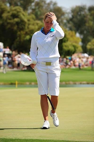 Suzann Pettersen was also at six under par after a final-round 68.