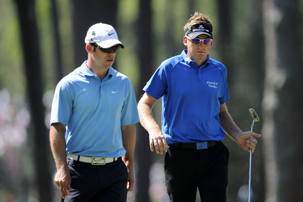right, and Paul Casey played a practice round with fellow countryman Lee Westwood.