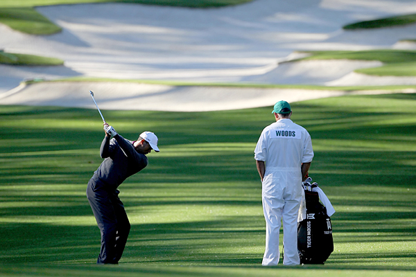 Tiger Woods played the back nine early Wednesday morning with Mark O'Meara and Arjun Atwal.