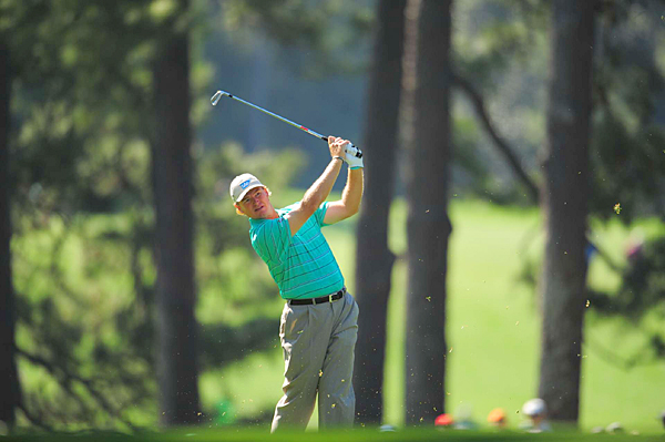 Ernie Els started off well on the front nine, but he stumbled to a 4-over 40 on the back to finish with a 75.
