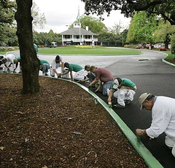 Final touches were being made all over Augusta on Sunday.