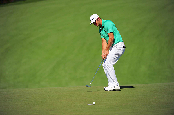 Dustin Johnson made six bogeys and four birdies for a 2-over 74.