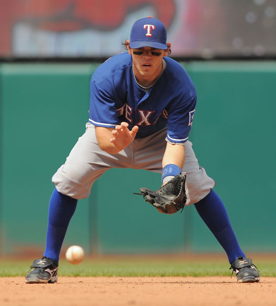 "Rangers                       2B                       2009 stats: .253,                       31 HR, 86 RBI                       Handicap: 8 (""But                       it should be down                       to 6 by spring."")                       Best part of his game: ""Getting                       off the tee.""                       Worst: ""Everything else.""                       Favorite course: ""Arthur Pack, now                       known as Crooked Tee, in Tucson.                       I grew up                       playing there."""