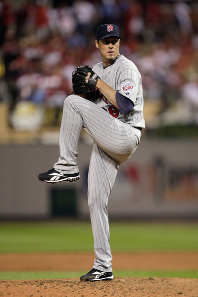 "Twins                           Relief Pitcher                           2009 stats: 2-2, 2.10 ERA,                           47 for 52 in save                           opportunities;                           MLB All-Star                           Handicap: 10                           Best part of his game: ""It all needs                           improvement.""                           Worst: ""Short game.""                           Favorite course: The Golf Club at Scottsdale"