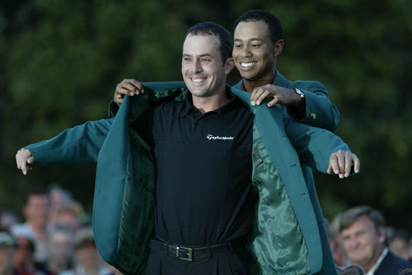 "The current Masters champion is the only person allowed to take the green jacket off club property, and 2003 winner Mike Weir made sure his grandfather had a chance to try it on. ""We had some pictures made before he passed away,"" Weir said. ""That was pretty cool."""