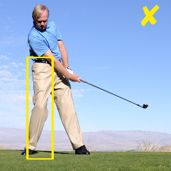 How to Stop High, Weak Irons                             Think 'post up' for crisp contact every time                             By Peter Krause                             Top 100 Teacher                                                                                       This story is for you if...                                                          • The distances of your iron shots vary wildly.                                                          • Your most common mis-hit is high and weak.                                                          • You don't have a balanced finish.                                                          The Problem                                                          You often hit short of the pin, putting extra pressure on your short game. But you can't just take more club, because sometimes you'll catch one good and overshoot the green.                                                          Why It's Happening                                                          If you're inconsistent with your irons like this, you're probably hanging too far back and pivoting around your right leg through impact (instead of your left). This causes you to release the club early and swing with a lifting or scooping motion. The result: High and weak shots.                                                          Pivoting around your right leg on your downswing is the fast track to high, weak shots.