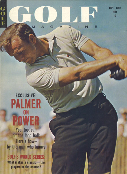 Arnold Palmer, GOLF Magazine, September 1962