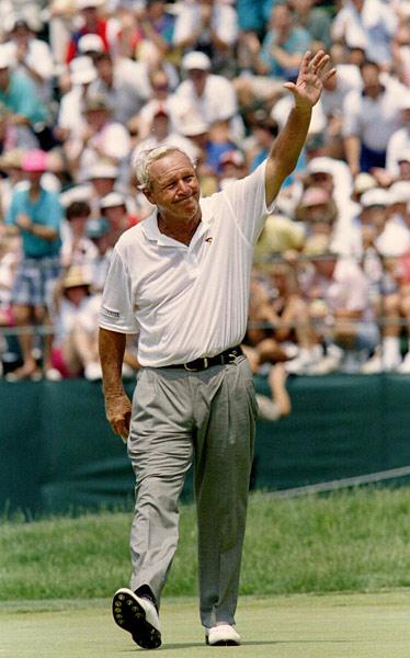 Arnold Palmer through his final U.S. Open.