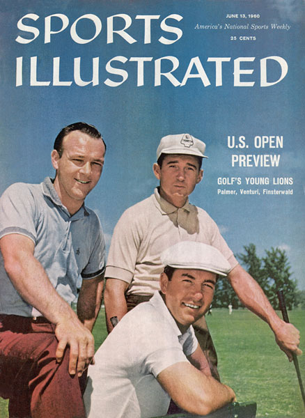 In June 1960, Sports Illustrated made cover boys of rising stars.  Clockwise from left:  Arnold Palmer, Dow Finsterwald and Ken Venturi (seated).