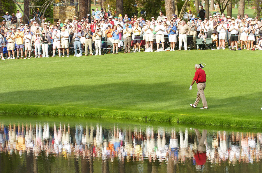 Arnold Palmer played in his 50th and final Masters in 2004.