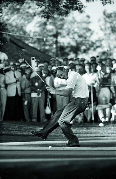 Arnold Palmer celebrating after winning the 1960 U.S. Open Golf at Cherry Hills Country Club in Englewood, Colo.