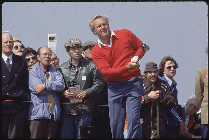 Arnold Palmer in action at the 1978 British Open.