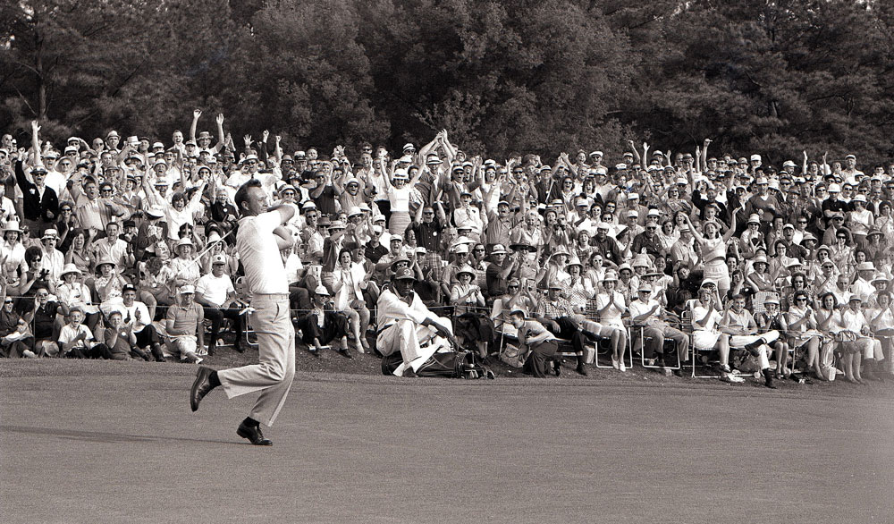 Palmer birdied 18 to cap off a two-under 70 as he became the first player to win four Masters titles.