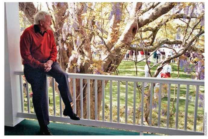 """That's the clubhouse balcony at Augusta at my last Masters [in 2004]. It was a tough week, ending my career as a competitive player there, knowing I wouldn't go out and try to win one more. Yep, it's hell to get old.""                           This gallery first appeared in the January 2007 issue of Golf Magazine. This is the first time it's been seen online."