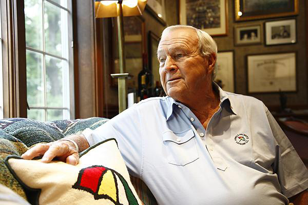 "ARNOLD PALMER: ""If a picture is worth a thousand words, my office in Latrobe, Pa., must be worth a million. The walls are covered with dozens of pictures of my life on and off the course. A photo takes you back in time. ... When I see a snapshot from, say, 50 years ago, I still remember every detail from that day. The smell of the grass, the applause of the gallery. I'm lucky. My life has been filled with wonderful people and moments. Here are a few of my favorite memories captured by camera."""