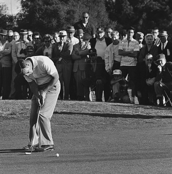 "Arnold Palmer, 12, 1961 Los Angeles Open, par-5 18th hole, Rancho Park Golf Course                           Asked how he made 12, Arnold Palmer told reporters, ""I missed my putt for 11,"" according to USA Today. He didn't mention the four shots he hit OB. Palmer knows that a big score makes a good story: he lists the 12 as one of his ""80 Most Significant Moments"" on ArnoldPalmer.com."