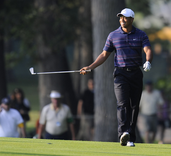 Woods won the PGA Championship in 2006 and 2007, but he missed last year's event while recovering from knee surgery.