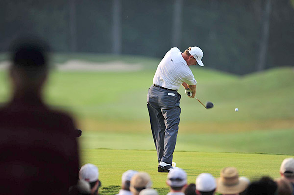 Ernie Els was six over for the tournament following his second round.