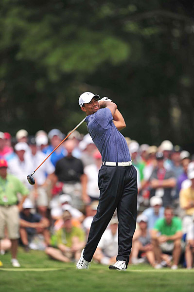 Woods finished with a 73, missing the cut at the PGA Championship for the first time in his career.