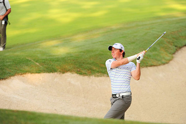 McIlroy was two over par on his opening nine.