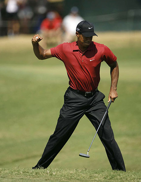 Sunday at Southern Hills                       The final round of the 2007 PGA Championship was once again played in searing conditions in Tulsa, Okla. Take a look at what happened on the final day of the season's last major.                                              Tiger Woods won his fourth PGA Championship Sunday, finishing at eight under par.
