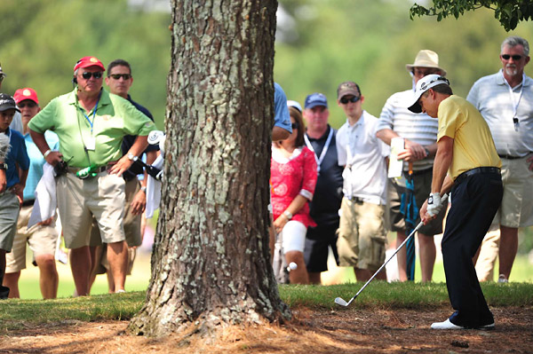David Toms three-under 67 to finish at five under.