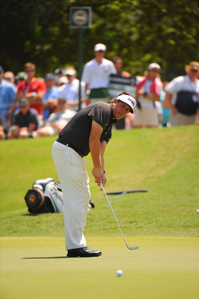 Phil Mickelson was two under on the front nine.
