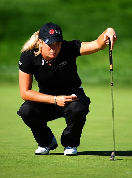 Suzann Pettersen shot a 3-under 69.